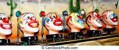 Clowns - Clowsn in a row.