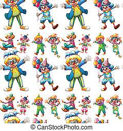 clowns, seamless