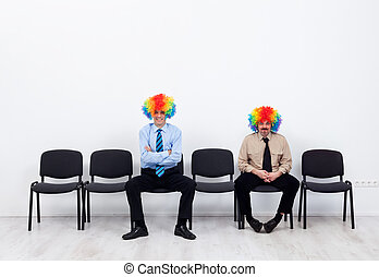 Clowns waiting