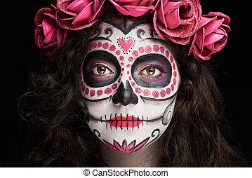 catrina skull face