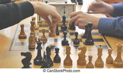 club, échecs, sport, jeu, horloge
