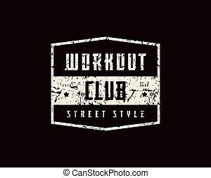 club, allenamento, emblema