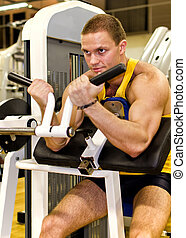 club, atleta, hombre, ejercicio, condición física