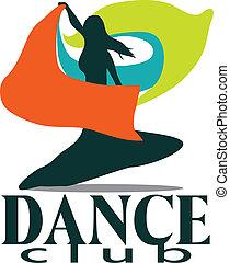 club baile, logotipo