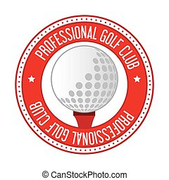 club, bal, golf, pictogram