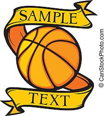 club, basket-ball, emblème