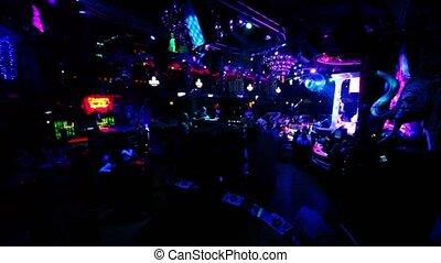 club, beaucoup, nuit, sombre, gens