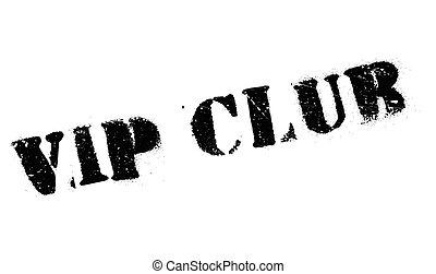 club, caoutchouc, vip, timbre