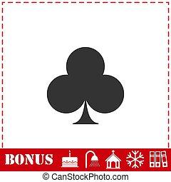 Club card icon flat