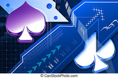 Club card sign - Digital illustration of club card sign in...
