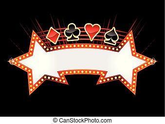 club, casino, ontwerp, uitnodiging