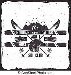 club, concept., ski
