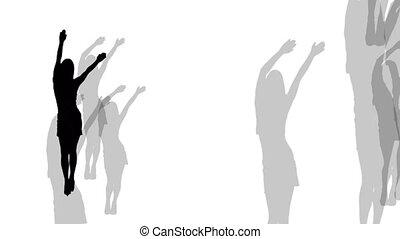 club., danse, girls.
