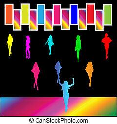 club, danse, nuit