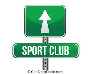 club, deporte, muestra del camino