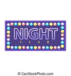 club, emblème, nuit