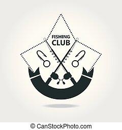 club, emblème, peche, apparenté