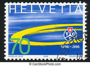 club, emblema, turismo, suisse