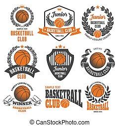 club, emblemi, pallacanestro