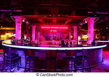 club, estilo, moderno, europeo, noche