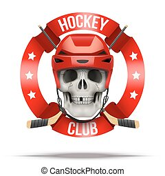 club, etiquetas, hielo, hockkey, equipo, logotipo, o, insignias