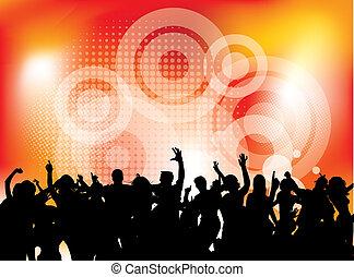 club, fête, danse, gens