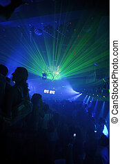 club, fête, fond, nuit