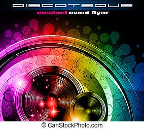 club, flyer, disco