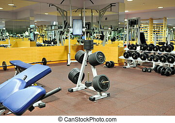club forme physique, gymnase
