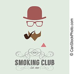 club, fumer, carte