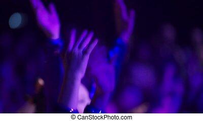 club, gens, concert, danse