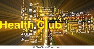 club, gloeiend, concept, gezondheid, achtergrond