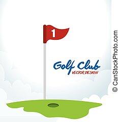 club, golf, spel, grafisch, sportende