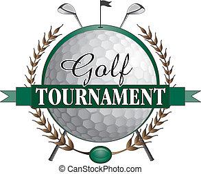 club golfistici, torneo, disegno