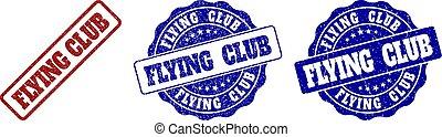 club, graffiato, volare, francobollo, sigilli