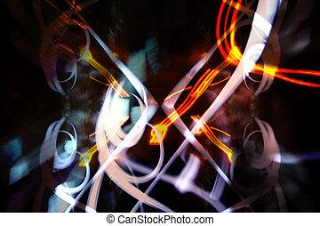 club heaven lights - crazy shapes of light captured at...