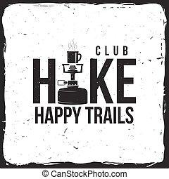 club, insignia, stove., excursionismo
