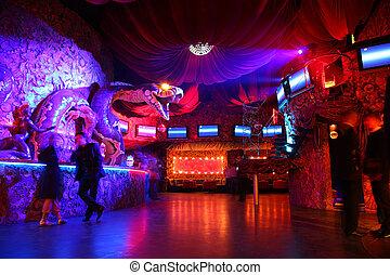 club, intérieur, 2, nuit