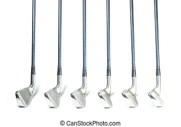 club, isolated., ensemble, golf, fer