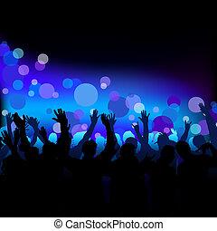 club, leven, nacht