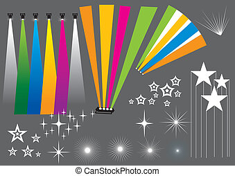 Club Light - Vector set of light beams, image is part of my...