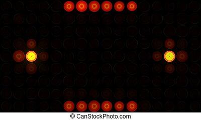 Club light show - Light floodlight flashing colored lights....
