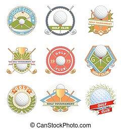 club, logo, ensemble, golf