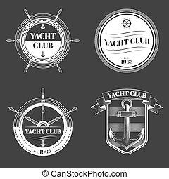 club, logo, ensemble, yacht