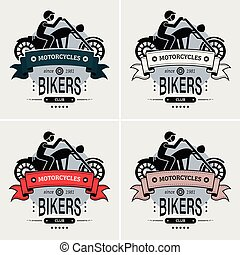 club, logo, motard, couperet, design.