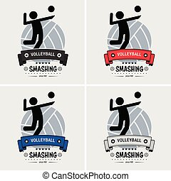 club, logo, volley-ball, design.