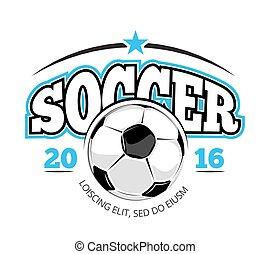 club, logotipo, calcio, vettore, sagoma