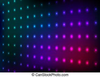 club, lumière, coloré, mur