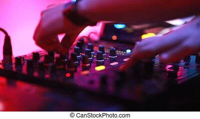 club, mélange, dj, nuit
