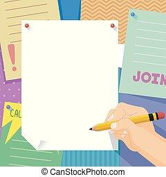 club, mano, illustrazione, segno